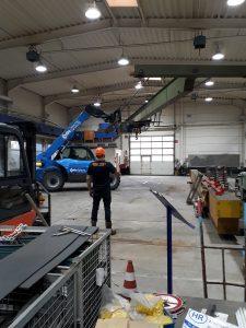 bovenloopkraan stahl 10 ton 17 meter